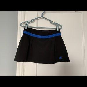 Adidas Climalite Sport Skort Black+Blue Size Small